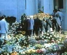 Elvis Presley Coffin  - Elvis Death - Elvis Funeral. August 16, 1977.   ---I  remember the day. Summer vacation , sewing w my mom in her room listening to radio. We weren't big Elvis fans yet it was truly so sad we had to quit our project for the day He was too young
