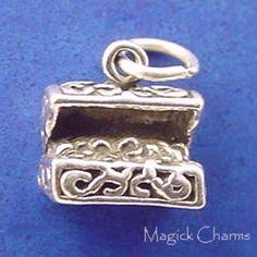13mm x 19mm Jewel Tie 925 Sterling Silver Peace Pendant Charm