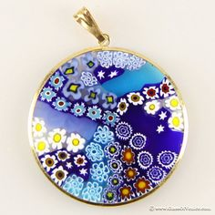 Millefiori Venetian glass jewelry