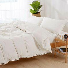 Coverlet Bedding, Ruffle Bedding, White Bedding, Bedding Sets, Fur Comforter, Pillow Shams, Pillows, Boho Duvet Cover, Textured Duvet Cover