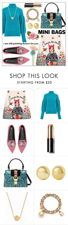 """""""So Cute: Mini Bags"""" by pat912 ❤ liked on Polyvore featuring Gucci, Topshop, Giuseppe Zanotti, Bobbi Brown Cosmetics, Kenneth Jay Lane, Minnie Grace, Tiffany & Co., polyvoreeditorial and minibags"""