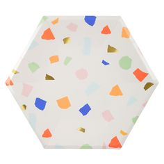 On trend and super stylish these terrazzo plates are great for every celebration. See the full range at The Original Party bag Company. A set of stylish hexagonal large party plates with a colourful terrazzo pattern perfect for any occasion. Terrazzo, Modern Color Palette, Modern Colors, Graduation Table Decorations, Cute Dorm Rooms, Graduation Celebration, Gold Foil Print, Party Plates, Bright