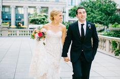 A Modern, Garden-Inspired Wedding at Morgan Manufacturing in Chicago, Illinois