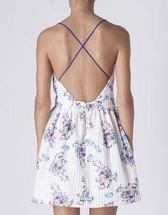 Vestido estampado decote costas | URBAN CHIC | VESTIDOS & MACACÂOS | SHOP ONLINE SUITEBLANCO.COM