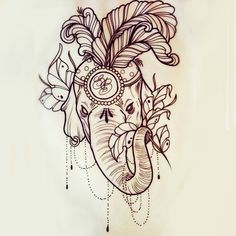 Elephant tattoo, Photoshopped