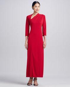 Millennium Asymmetric Long Dress, Women\'s   by Melissa Masse at Neiman Marcus.