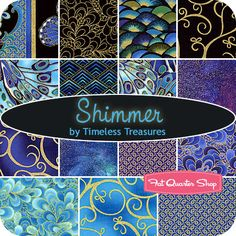 Shimmer Fat Quarter Bundle Timeless Treasures Fabrics - Fat Quarter Shop