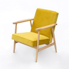 "Type B7727 armchair, ""Lisek"", yellow 