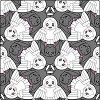 Escher theme by osapavlova on DeviantArt Escher Art, Mc Escher, Tessellation Patterns, Escher Tessellations, Link Chibi, Kites Craft, Tesselations, 8th Grade Art, Geometric Drawing