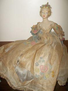 "WOW! Antique 1920's Lenci   27"" Boudior Lady Long Limbed Doll"