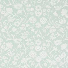 Yukata - Celadon wallpaper, from the Kasuri Wallpaper collection by Designers Guild Washable Wallpaper, Fabric Wallpaper, Wallpaper Roll, Yukata, Designers Guild Wallpaper, Designer Wallpaper, Vintage Louis Vuitton, Original Wallpaper, William Morris