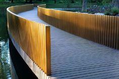john pawson bridge - sackler crossing bridge, kew gardens: