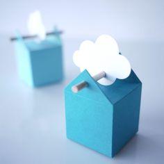 Kit cumulus, boites  à dragées et étiquettes