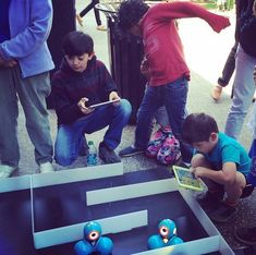 Coding projects for kids: Set up mazes for Dot and Dash robots to navigate <<<<< *cough* Morse code *cough* Dash And Dot Robots, Dash Robot, Stem Projects, Projects For Kids, Robotics Club, Stem Robotics, Coding Class, Computational Thinking, Robots For Kids