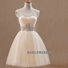 Sweetheart beading tulle short prom dress / bridesmaid dress · Girlfriend · Online Store Powered by Storenvy
