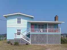 #I was super-happy when my clients asked me to pick a turquoise for the beach house exterior - 2 shades! I'm like, an expert in shades of turquoise.    http://wp.me/p291tj-7X