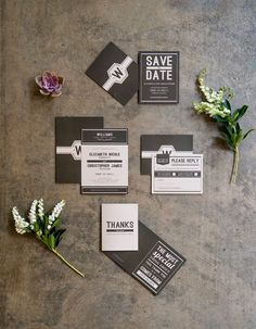 invitations mariage industriel
