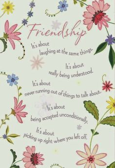 Friendship is about....and so much more ~ Andrea A. Elisabeth ✿⊱╮