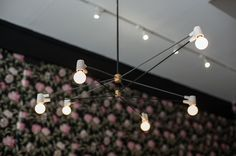 Close Up of our Long Cord Chandelier up n at em at Alfred Coffee shop in Silverlake, CA. www.brendanravenhill.com