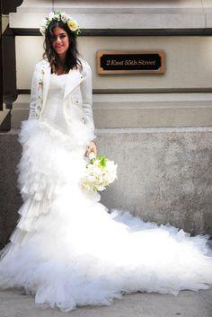 Homemade Winter Wedding Dress