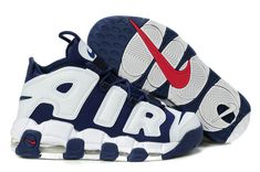 How To Buy Nike Air More Uptempo Olympics Navy White ReD