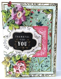 Anna Griffin Charlotte Paper Kit Card Thank you card Jane Makuch
