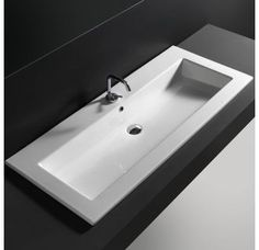 """View the WS Bath Collections Drop 121 - WS33101K Drop 47-1/5"""" Drop In Bathroom Sink with Single Faucet Hole and Overflow at Build.com."""