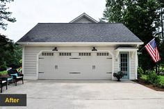 Replace Garage Door Makeover Guide: Before: Faux Wood