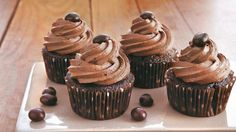 Love coffee? Here's the fudgy cupcake to make your tastebuds smile.
