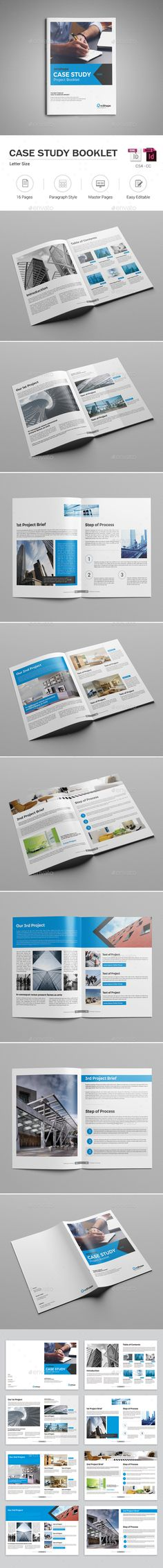 Case Study Booklet Design Template - Informational Brochures Template InDesign Template InDesign INDD. Download here: https://graphicriver.net/item/case-study-booklet/17712863?ref=yinkira