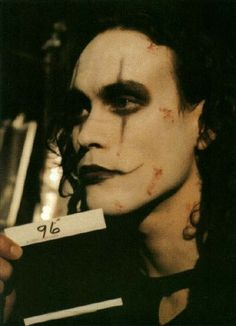 Brandon Lee - The Crow. I need to see if I can find the picture of when I did my face like this years ago