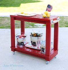 Build the Home Bar of Your Dreams with One of These 9 Free Plans: Rolling Bar Cart Plan from Ana White