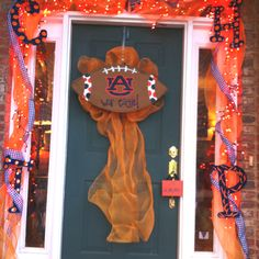 Football in the South ! War Eagle!! Door Decorations:)