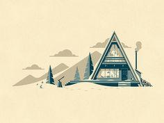 Cascade Art Print by DKNG