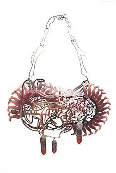 Hanna Hedman - Human Tree, 2010, necklace, oxidized silver, copper, paint - 38 x 28 x 6 cm - photo: Sanna Lindberg