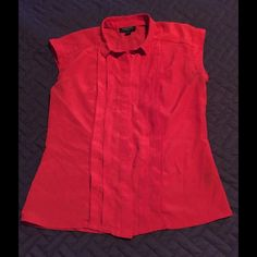 Jason Wu for Target Red Button Down Sleeveless sm Super cute and perfect condition! Jason Wu Tops Button Down Shirts