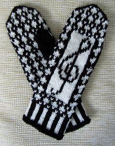 Nuottiavain lapaset – Clef mittens « Kädet – Hands « Yarn-Spirit Knit Mittens, Knitted Gloves, Knitting Socks, Knitting Patterns Free, Free Knitting, Free Pattern, Fair Isle Knitting, Knit Crochet, Diy And Crafts