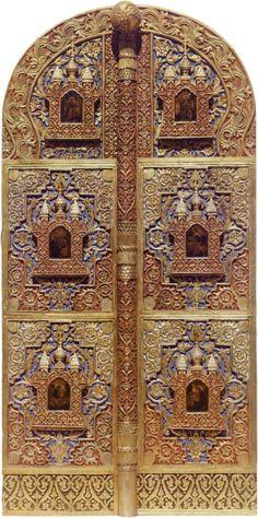 1911. Царские врата резной по дереву работы (XVII).