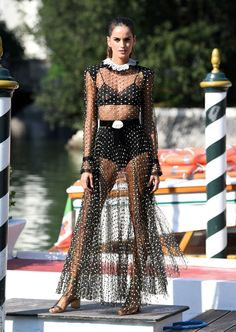 644c5c59c Izabel Goulart wore a totally see-through dress at the Venice Film Festival