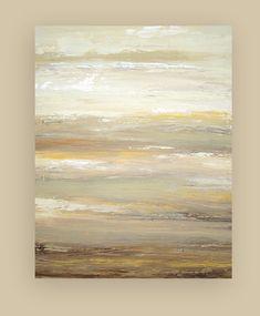 Acrylic Abstract Painting Art Original on door OraBirenbaumArt