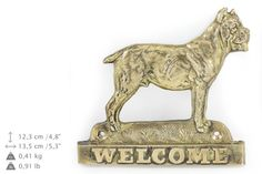 Cane Corso dog welcome hanging decoration by ArtDogshopcenter