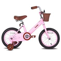 JOYSTAR 16 Inch Kids Bike with Training Wheels #bikes #bicycleaccessories #bikeparts #mtb #velo #sport #cyclinggear #bmx #cruiserbikes #exercisebike Bicycle Basket, Kids Bicycle, 16 Inch Kids Bike, Bike With Training Wheels, Bike Seat, Pink Kids, 7 Year Olds, Classic Bikes, Cool Bikes