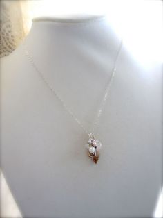 Beachy Shell necklace - by Tidepools Jewelry. $39.00, via Etsy.