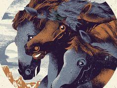 Pharaohs Horses by Two Arms Inc. кінь, коні