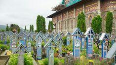 The Merry Cemetery in Maramures Romania