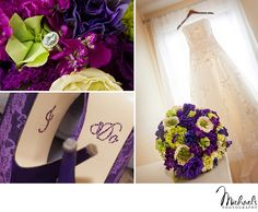 Cute shoe idea & beautiful flowers by Pennypack Flowers in Philadelphia. Photos by Michael's Photography in Bensalem, PA.