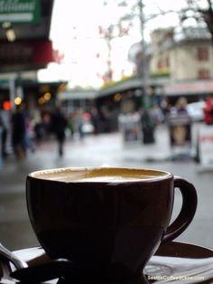 Coffee in Seattle, WA.