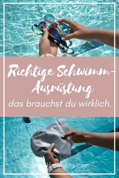 Du möchtest Schwimmen lernen, aber weißt nicht, was du dafür benötigst? In diesem Blogpost erfährst du, was wirklich wichtig ist und was du für dein erstes Schwimmtraining brauchst. Inkl. Tipps zum Thema Schwimmtraining und Kraultechnik. // www.klarafuchs.com