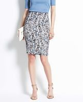 """Paisley Pencil Skirt - Paisley pop: the classic heritage print gets a new spin in fresh spring colors for an all-out feminine look. Pair with strappy heels to add instant pretty to any outfit. Hidden back zipper with hook-and-eye closure. Back vent. Lined. 23"""" long."""