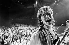 Duran Duran 1984 World Tour Photos Credit: Denis O'Regan Pure happiness. John Taylor live in the US, 1984